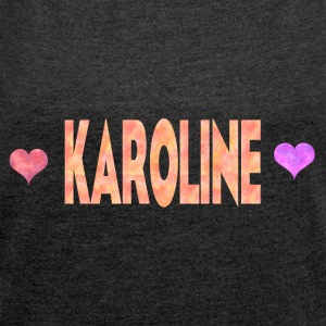Karoline - Women's T-shirt with rolled up sleeves
