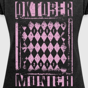 Octoberfest Design Maedels - Women's T-shirt with rolled up sleeves