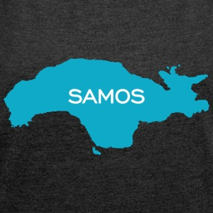 Samos - Today is Life - Women's T-shirt with rolled up sleeves