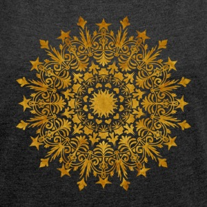 "Mandala - ""The Crown"" - Frauen T-Shirt mit gerollten Ärmeln"