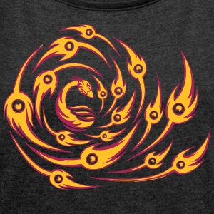 Phoenix - Women's T-shirt with rolled up sleeves