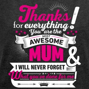 Mothering Day! Motherday! Mother's day! - Women's T-shirt with rolled up sleeves