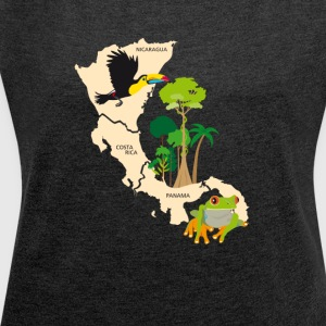 Costa Rica Nicaragua Panama - Women's T-shirt with rolled up sleeves