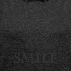 Fashion stole my smile - Women's T-shirt with rolled up sleeves