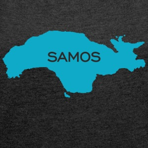 Samos life - Women's T-shirt with rolled up sleeves
