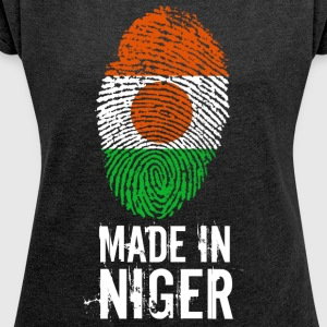 Made In Niger - Dame T-shirt med rulleærmer