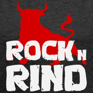 ROCK n RIND - Women's T-shirt with rolled up sleeves