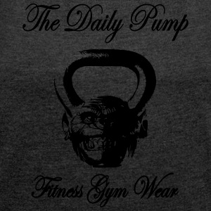 The Daily Pump Chimp Kettlebell - Women's T-shirt with rolled up sleeves