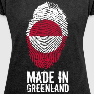 Made In Greenland / Greenland / Kalaallit Nunaat - Women's T-shirt with rolled up sleeves