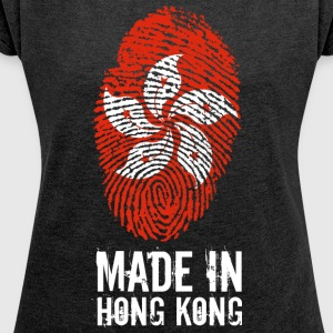 Made In Hong Kong / Hong Kong / 香港 / Xiānggǎng / 港 B - Women's T-shirt with rolled up sleeves