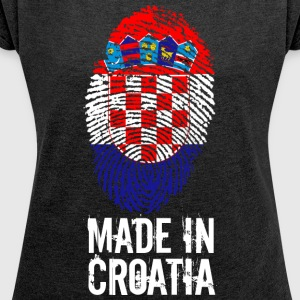 Made in Kroatien / Made in Kroatien Hrvatska - T-shirt med upprullade ärmar dam