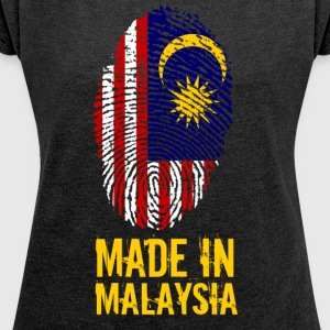 Made In Malaysia / Malaysia - Women's T-shirt with rolled up sleeves