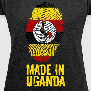 Made In Uganda - Women's T-shirt with rolled up sleeves