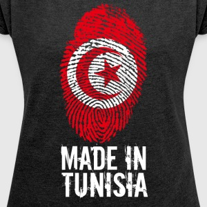 Made in Tunisia / Made in Tunisia تونس ⵜⵓⵏⴻⵙ - Women's T-shirt with rolled up sleeves