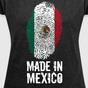 Made In Mexico / Mexiko / México - Frauen T-Shirt mit gerollten Ärmeln