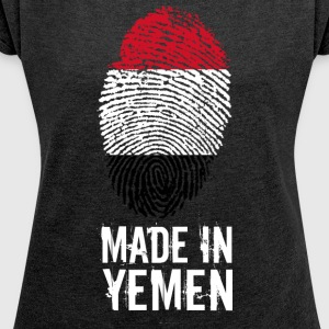 Made In Yemen / Yemen / الجمهورية اليمنية - Women's T-shirt with rolled up sleeves