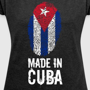 Made In Cuba / Cuba - Women's T-shirt with rolled up sleeves