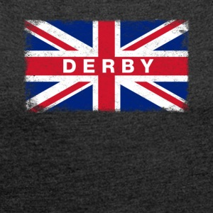 Derby Shirt Vintage United Kingdom Flag T-Shirt - Women's T-shirt with rolled up sleeves