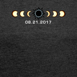 Total Sonnenfinsternis August 21 2017 Shirt - Frauen T-Shirt mit gerollten Ärmeln