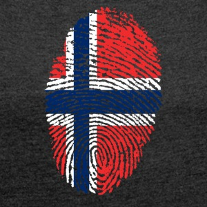 Fingerprint i love NORWAY norway denmark - Women's T-shirt with rolled up sleeves