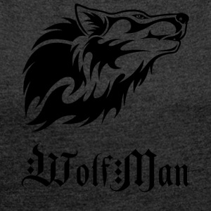 wolfman blak - Women's T-shirt with rolled up sleeves