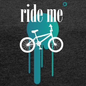 Bicycle bmx double irony allusion cool style - Women's T-shirt with rolled up sleeves