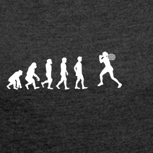 EVOLUTION tennis star wimbledon - Women's T-shirt with rolled up sleeves
