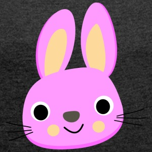 Rabbit, long ears - Women's T-shirt with rolled up sleeves