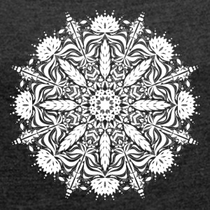 Leafy Mandala - Women's T-shirt with rolled up sleeves