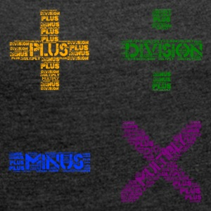 Plus Minus Multiply & Divison - Women's T-shirt with rolled up sleeves