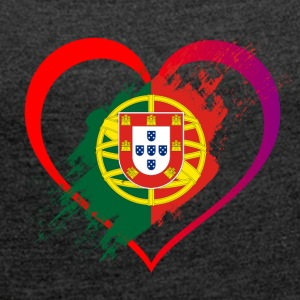 I LOVE PORTUGAL COLLECTION - Women's T-shirt with rolled up sleeves