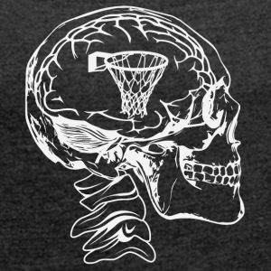 Basketball in the head - Women's T-shirt with rolled up sleeves