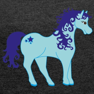 Unicorn without a horn) - Women's T-shirt with rolled up sleeves
