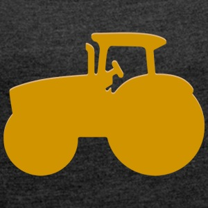 tractor - Women's T-shirt with rolled up sleeves