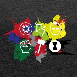 Superhero Team - Women's T-shirt with rolled up sleeves