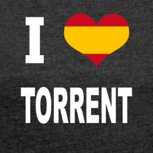 I Love Spain TORRENT - Women's T-shirt with rolled up sleeves