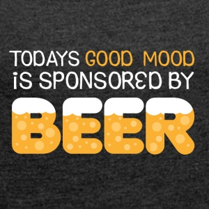 Good mood - Beer - Frauen T-Shirt mit gerollten Ärmeln