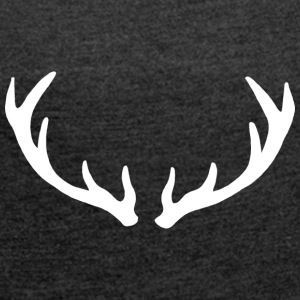 antler - Women's T-shirt with rolled up sleeves