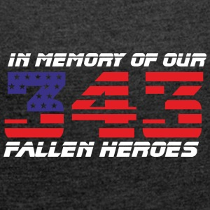 343 - In Memory of - Women's T-shirt with rolled up sleeves