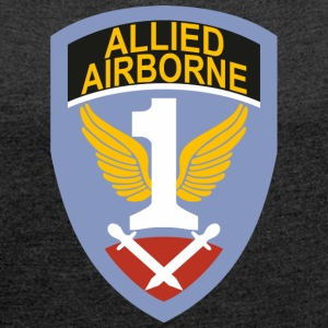 First Allied Airborne Army - Vrouwen T-shirt met opgerolde mouwen