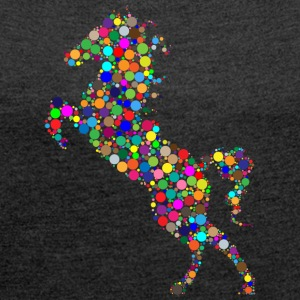 horse104 - Women's T-shirt with rolled up sleeves