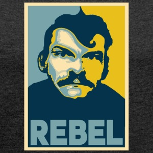 Rebel - Women's T-shirt with rolled up sleeves