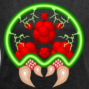 Metroid - Women's T-shirt with rolled up sleeves
