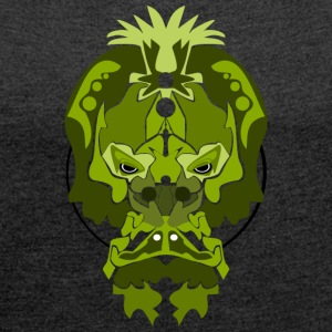Jade Monkey Demon - Women's T-shirt with rolled up sleeves