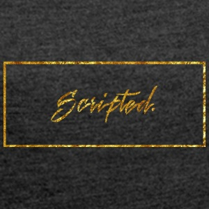 Scipted. Box Logo Gold - Women's T-shirt with rolled up sleeves