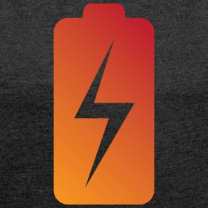 Battery Charging Status - Women's T-shirt with rolled up sleeves