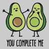 You complete me - Avocado - Women's T-shirt with rolled up sleeves