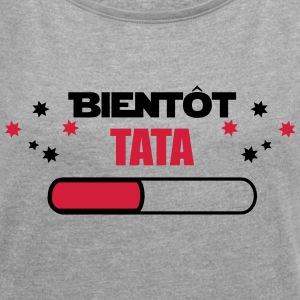 Soon TATA - AUNT FUTURE - Women's T-shirt with rolled up sleeves