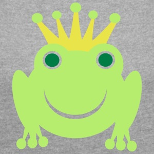 frog Prince - Women's T-shirt with rolled up sleeves