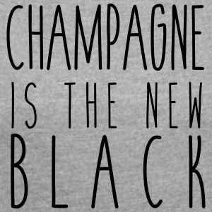 Champagne is the new black - Women's T-shirt with rolled up sleeves